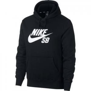 Mikina Nike SB ICON HOODIE PO ESSNL black/white