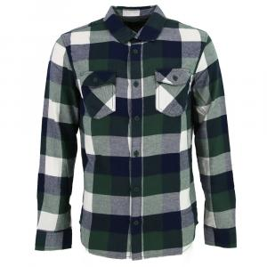 Košile Vans BOX FLANNEL PINE NEEDLE/DRESS BLUES
