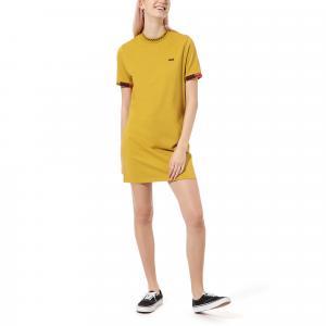Šaty Vans HI ROLLER TRI CHECK DRESS OLIVE OIL