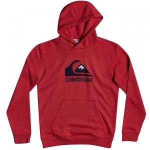 Mikina Quiksilver PRIMARY COLORS HOOD YOUTH AMERICAN RED