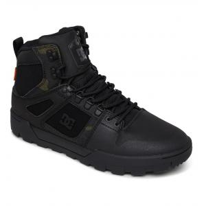 Boty DC PURE HIGH TOP WR BOOT BLACK CAMOUFLAGE