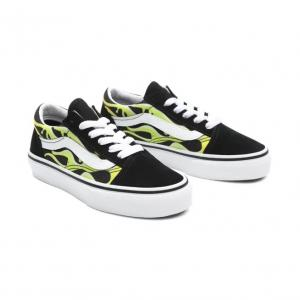 Boty Vans Old Skool SLIME FLAME BLACK/TRUE WHITE
