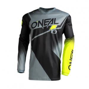 Pánský cyklodres Oneal Element Racewear  Black/Grey/Neon Yellow
