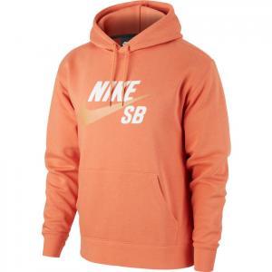 Mikina Nike SB ICON HOODIE PO ESSNL healing orange/amber brown
