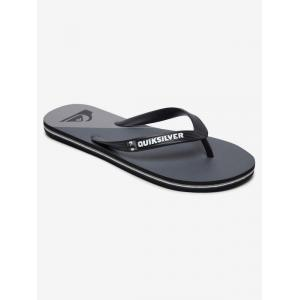 Žabky Quiksilver MOLOKAI NEW WAVE BLACK/GREY/BLACK