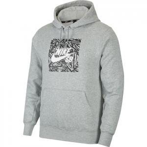Mikina Nike SB TRIANGLE GFX HBR dk grey heather/summit white