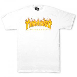 Tričko Thrasher Flame White