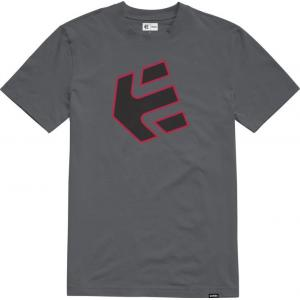 Tričko Etnies Crank S/S Tee GREY/BLACK/RED
