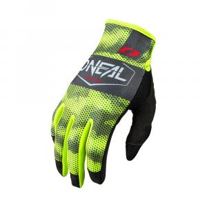 Cyklistické rukavice Oneal MAYHEM Glove COVERT charcoal/neon yellow