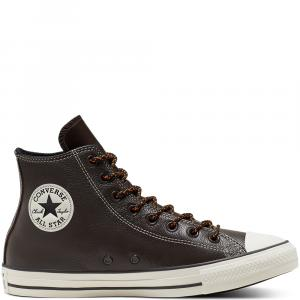 Boty Converse CHUCK TAYLOR ALL STAR LETHER velvet brown/campfire orange/e