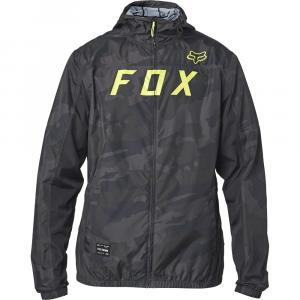 Bunda Fox Moth Camo Windbreaker Black Camor