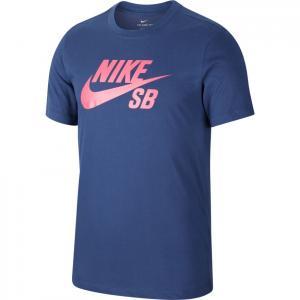 Tričko Nike SB DRY TEE DFCT LOGO midnight navy/watermelon