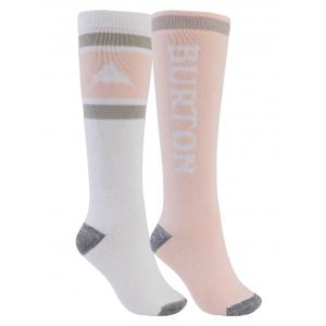 Ponožky Burton Women's Weekend Midweight Sock 2-Pack STOWHT/PEACHM