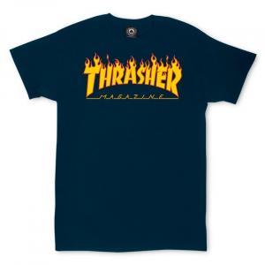 Tričko Thrasher Flame Navy Blue