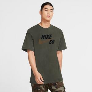 Tričko Nike SB TEE LOGO cargo khaki/yukon brown