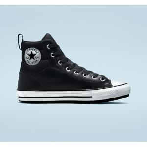 Boty Converse CHUCK TAYLOR ALL STAR FAUX LEATHER BERKSHIRE BOOT Black/White/Black
