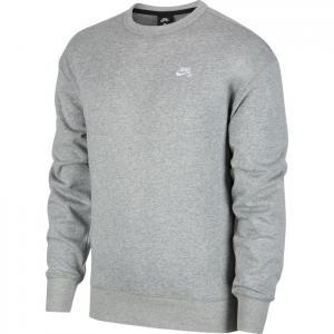 Mikina Nike SB CREW dk grey heather/white