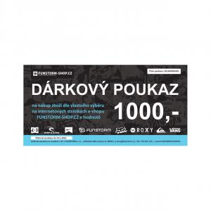 Dárkový poukaz Funstorm 1000 Kč