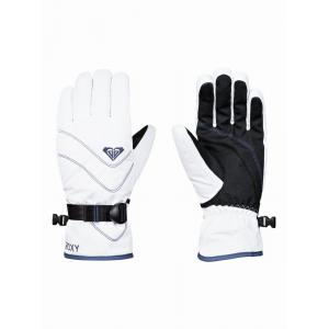 Rukavice Roxy JETTY SOLID GLOVES BRIGHT WHITE