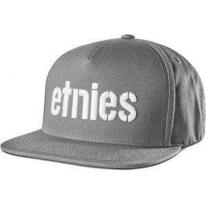 Kšiltovka Etnies Corp Snapback GREY/WHITE