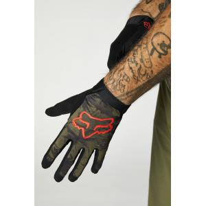 Cyklistické rukavice Fox Flexair Ascent Glove Olive Green