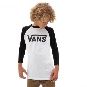 Tričko Vans CLASSIC RAGLAN White/Black
