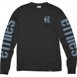 Tričko Etnies Icon L/S Tee BLACK/BLUE
