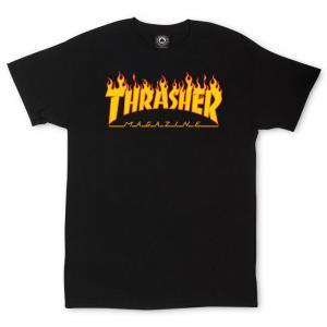 Tričko Thrasher FLAME Logo T-Shirt Black