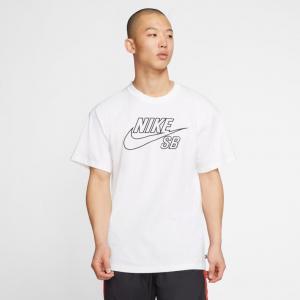 Tričko Nike SB TEE LOGO EMB white/black