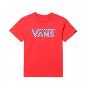 Tričko Vans CLASSIC LOGO FILL KIDS RACING RED/CHECKERBOARD