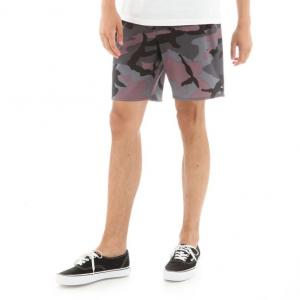 Koupací šortky Vans MIXED BOARDSHORT OVERSIZED BLACK PLUM CAMO