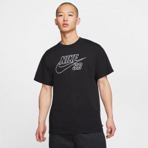 Tričko Nike SB TEE LOGO EMB black/white