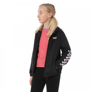 Bunda Vans GIRLS KASTLE CLASSIC WINDBREAKER Black