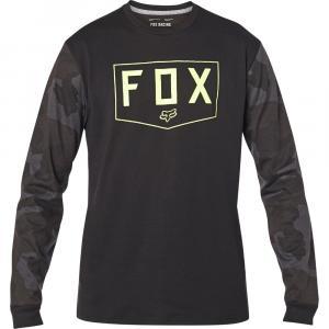 Tričko Fox Shield Ls Tech Tee Black Camor