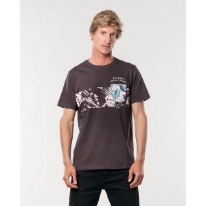 Tričko Rip Curl THE POUCHER S/S TEE  Washed Black