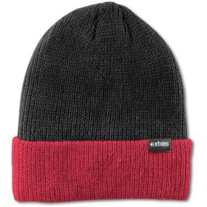 Čepice Etnies Warehouse Block Beanie BLACK/RED