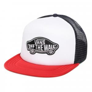 Kšiltovka Vans CLASSIC PATCH TRUCKER RACING RED/WHITE