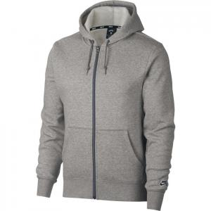Mikina Nike SB HOODIE ICON FZ ESSNL dk grey heather/black
