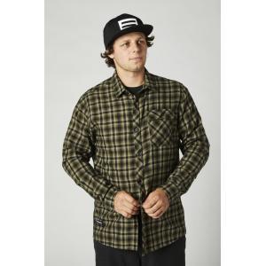 Košile Fox Reeves Ls Woven - L Olive Green