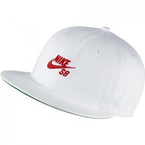 Kšiltovka Nike SB PRO CAP VINTAGE white/university red