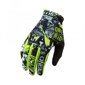 Cyklistické rukavice Oneal MATRIX Glove ATTACK black/neon yellow