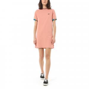 Šaty Vans HI ROLLER TRI CHECK DRESS ROSE DAWN