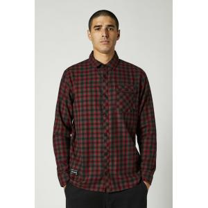 Košile Fox Reeves Ls Woven - L Black/Red