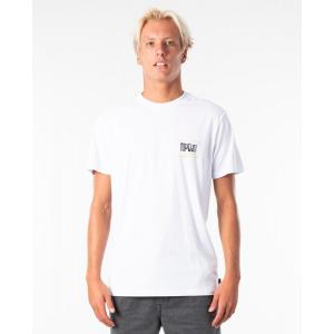 Tričko Rip Curl NATIVE GLITCH TEE  White