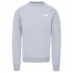 Mikina The North Face RAGLAN REDBOX CREW TNF LIGHT GREY HEATHER