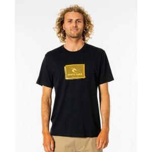 Tričko Rip Curl CORP ICON TEE  BLACK