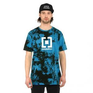 Tričko Horsefeathers BASE T-SHIRT blue tie dye