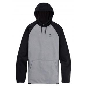 Mikina Burton Crown Weatherproof Pullover Fleece Gray Heather/True Black