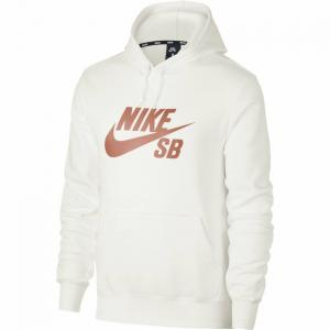 Mikina Nike SB ICON HOODIE PO ESSNL summit white/rose gold