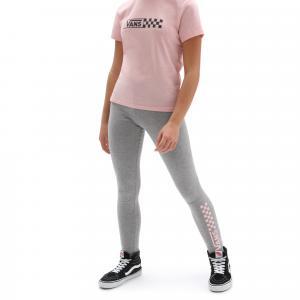 Legíny Vans CHALKBOARD II LEGGING GIRLS GREY HEATHER/POWDER PINK